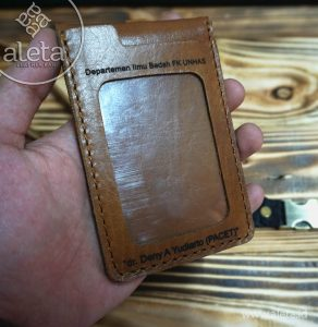 Dompet id card kulit