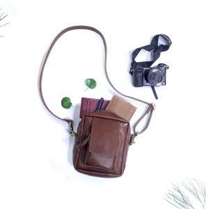 tas kulit pria recca bag