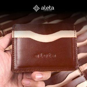 Seminar kit dompet kartu bahan kulit dari aleta jogja