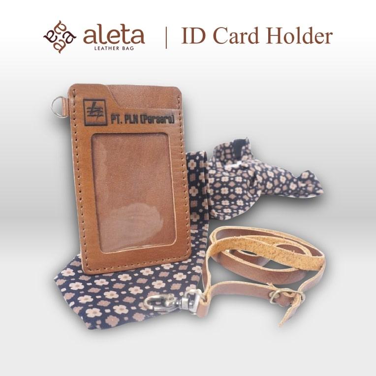 Seminar kit ID card holder bahan kulit dari aleta jogja
