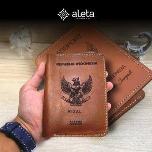Seminar kit sampul passport bahan kulit dari aleta jogja