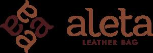 logo aleta leather bag